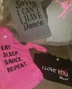 Lot of dance shirts women's small